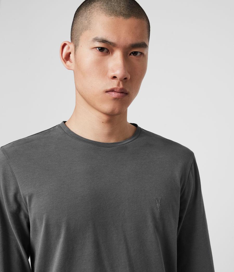 Hombres Brace Long Sleeve Tonic Crew T-Shirt (alp_grey) - Image 2