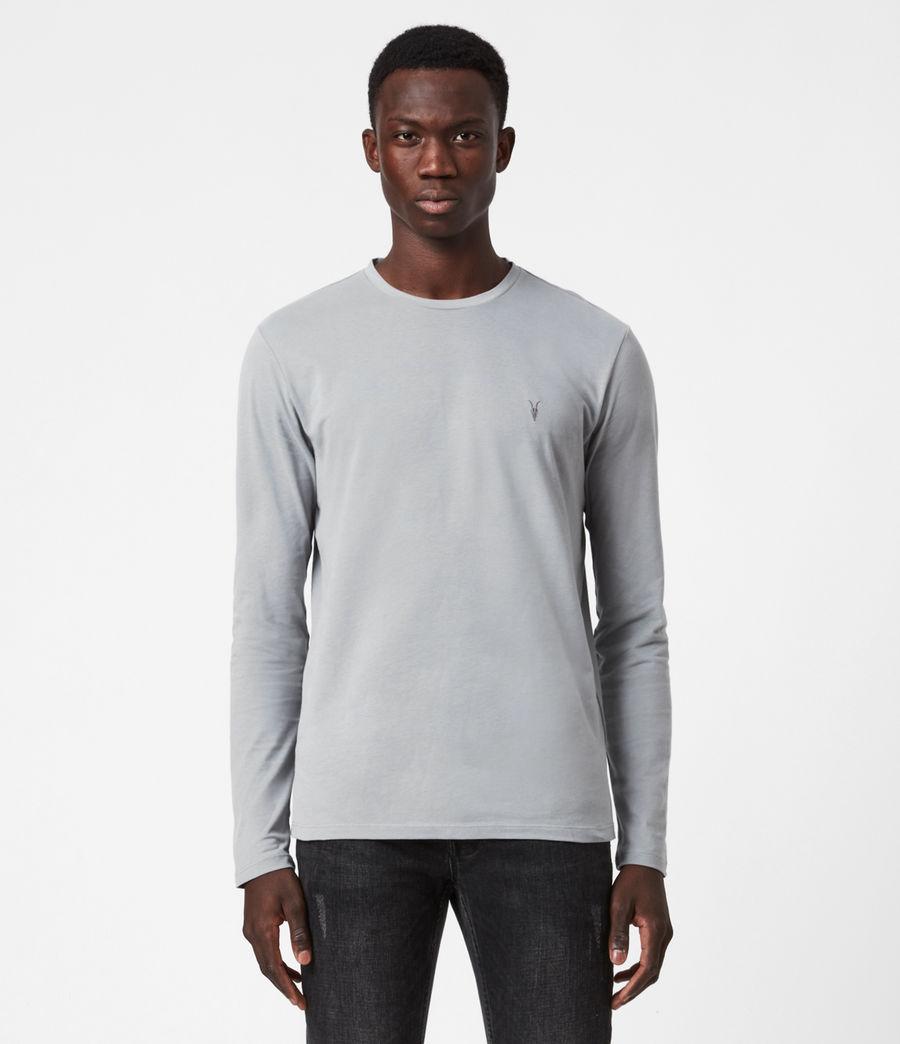 Herren Brace Tonic Long Sleeve Crew T-Shirt (parma_grey) - Image 1