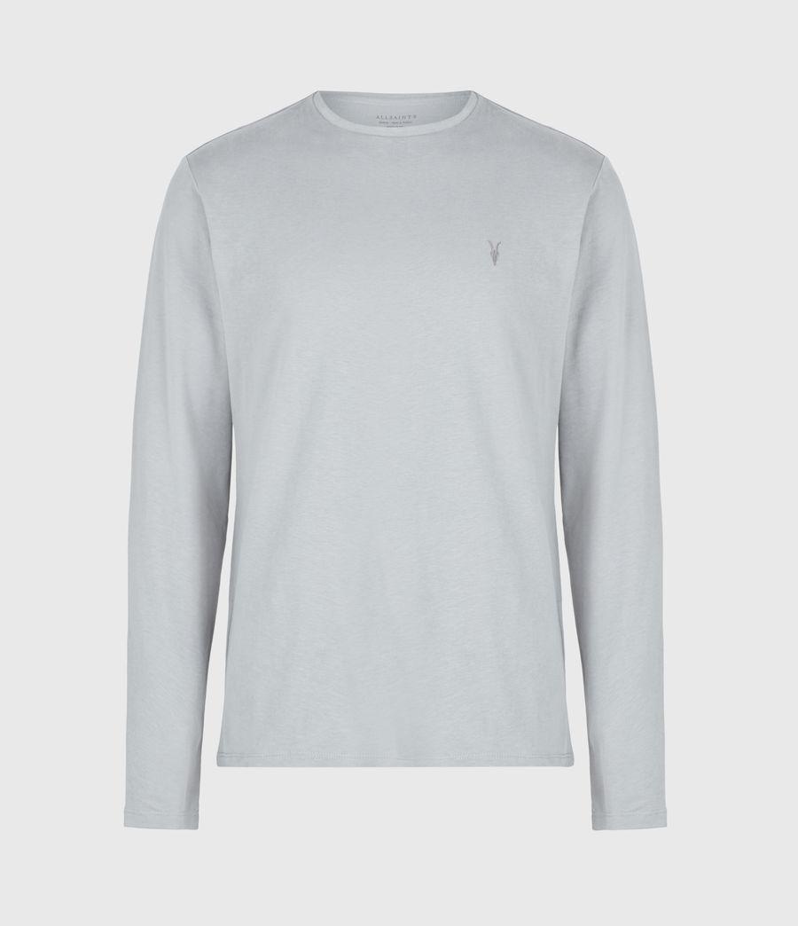 Herren Brace Tonic Long Sleeve Crew T-Shirt (parma_grey) - Image 2