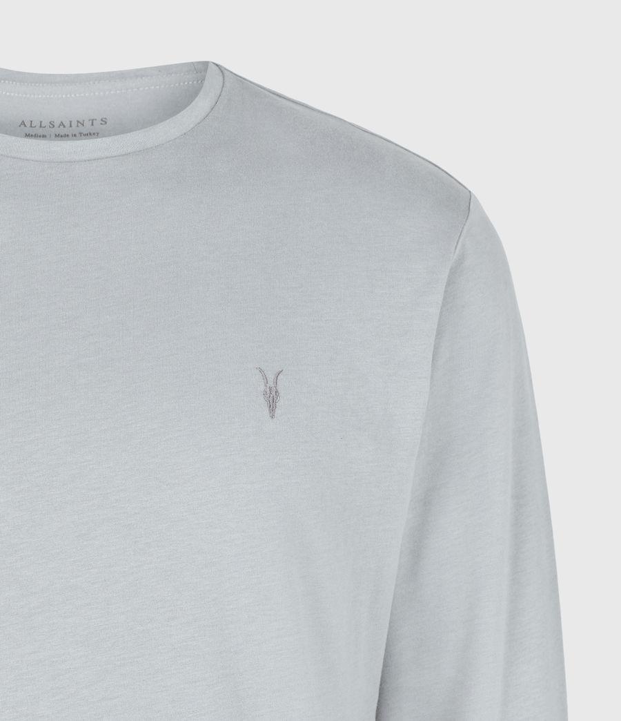 Herren Brace Tonic Long Sleeve Crew T-Shirt (parma_grey) - Image 5