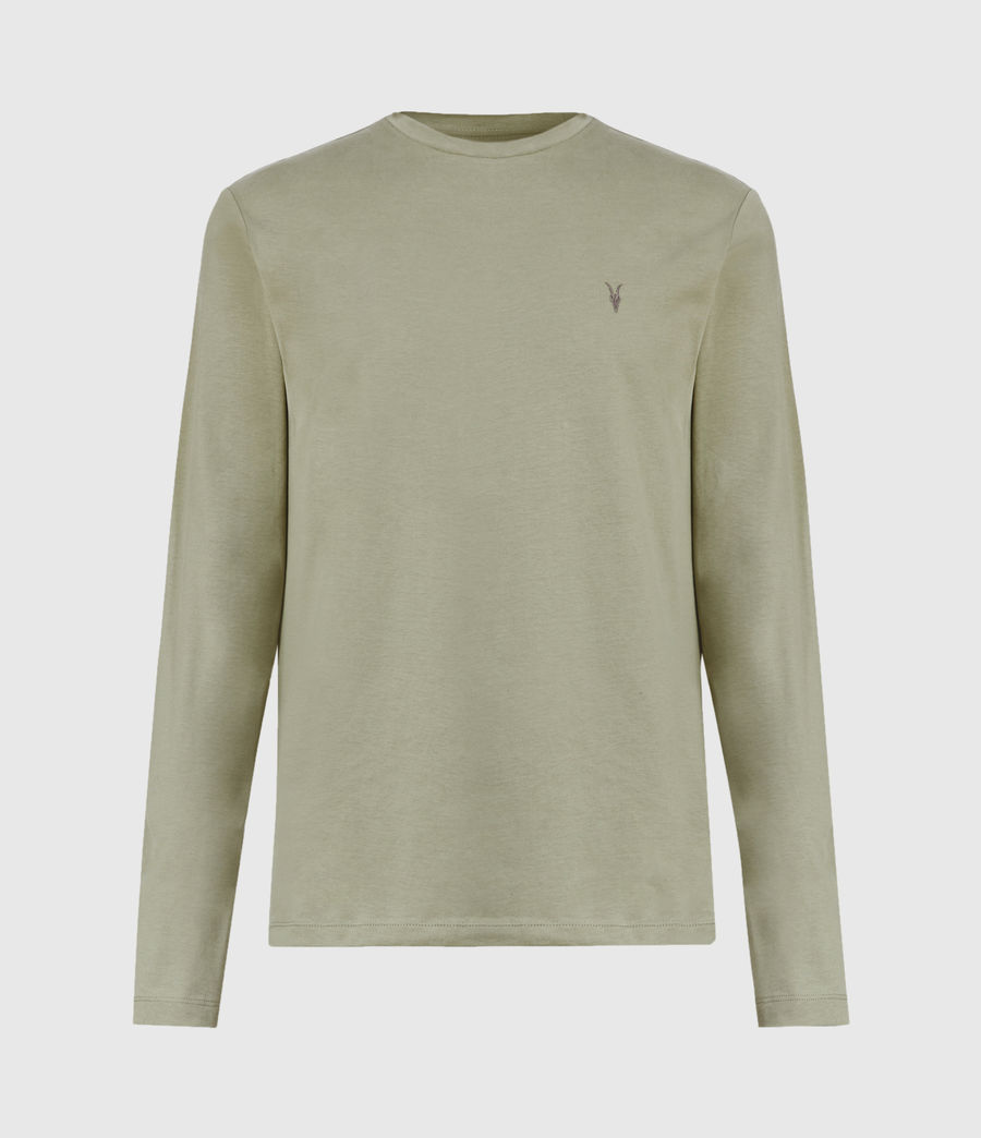 Men's Brace Tonic Long Sleeve Crew T-Shirt (vine_green) - Image 2