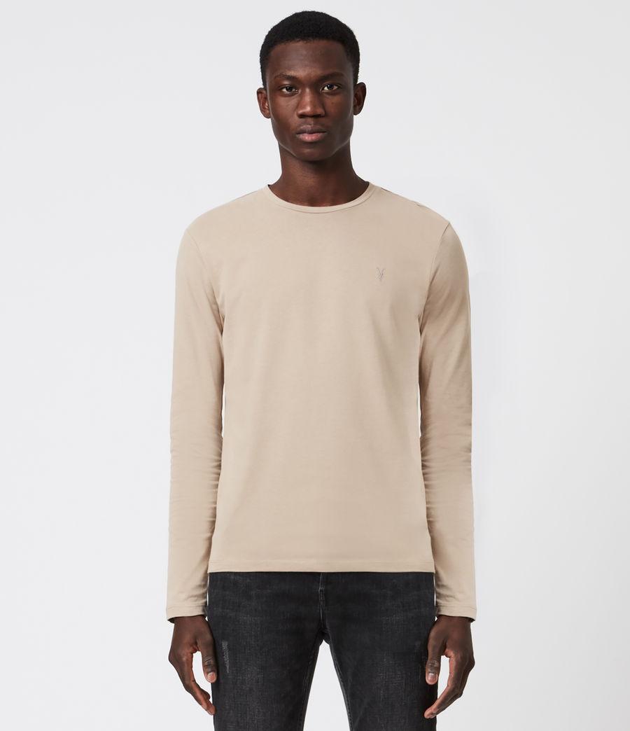 Men's Brace Tonic Long Sleeve Crew T-Shirt (hazelwood_taupe) - Image 1