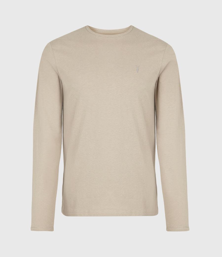 Men's Brace Tonic Long Sleeve Crew T-Shirt (hazelwood_taupe) - Image 2
