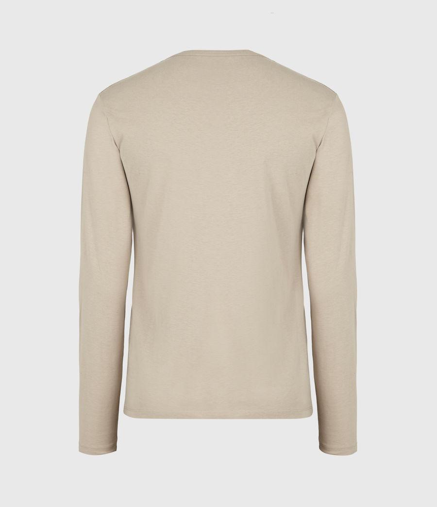 Men's Brace Tonic Long Sleeve Crew T-Shirt (hazelwood_taupe) - Image 3