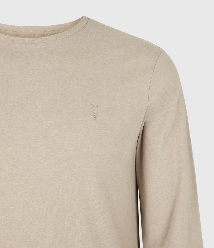 Men's Brace Tonic Long Sleeve Crew T-Shirt (hazelwood_taupe) - Image 5
