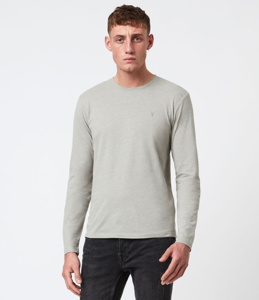 Mens Brace Long Sleeve Tonic Crew T-Shirt (cliff_grey) - Image 1