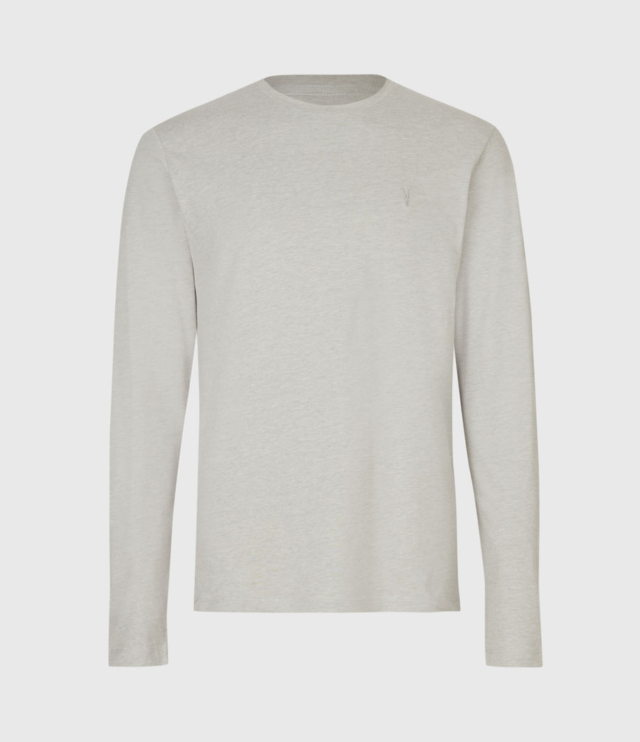 Mens Brace Long Sleeve Tonic Crew T-Shirt (cliff_grey) - Image 2