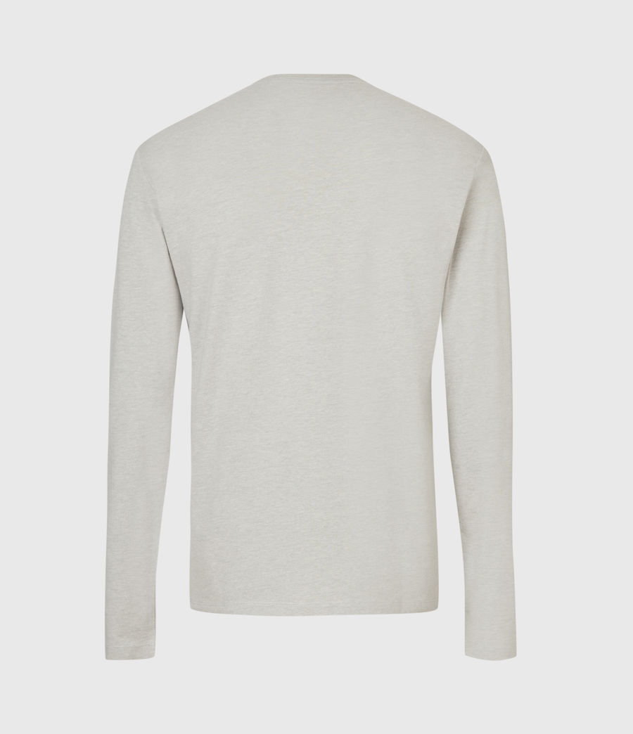Mens Brace Long Sleeve Tonic Crew T-Shirt (cliff_grey) - Image 3