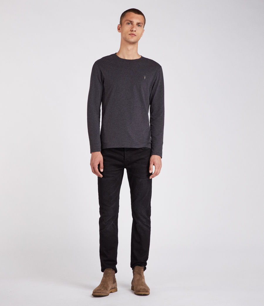 Mens Brace Tonic Long Sleeve Crew T-Shirt (charcoal_marl) - Image 3
