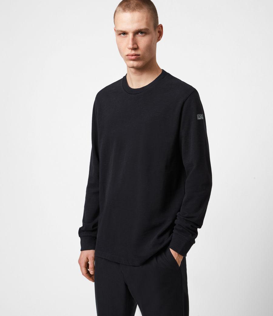 Herren Seri Langarmshirt (jet_black_white) - Image 1