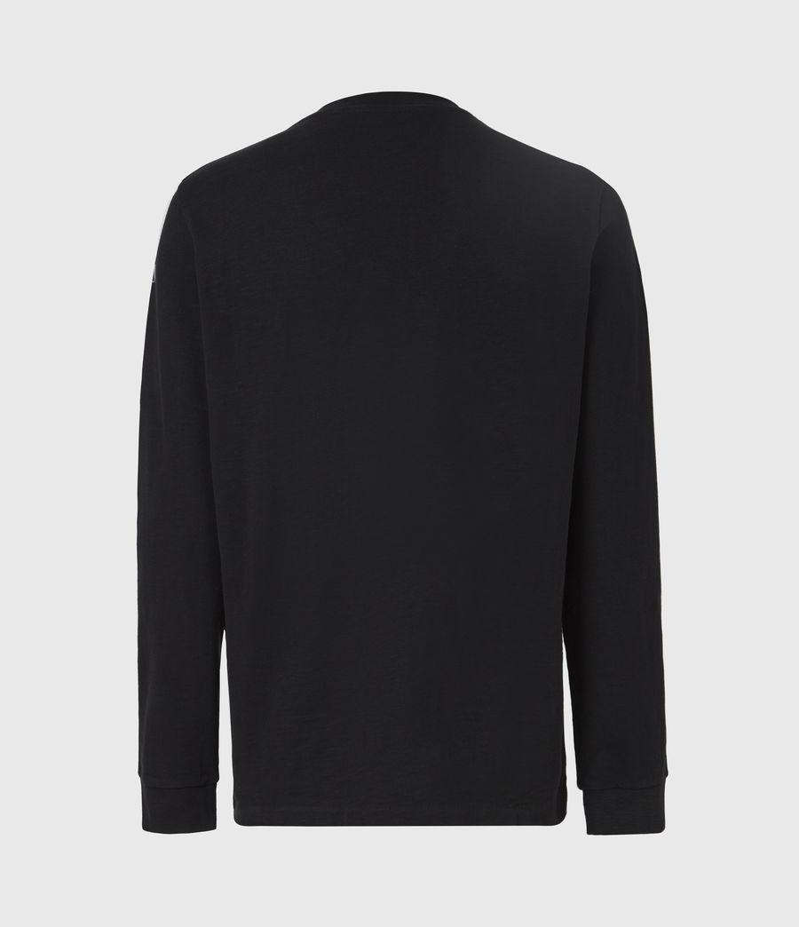Herren Seri Langarmshirt (jet_black_white) - Image 3