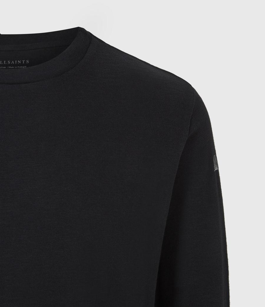 Herren Seri Langarmshirt (jet_black_white) - Image 5
