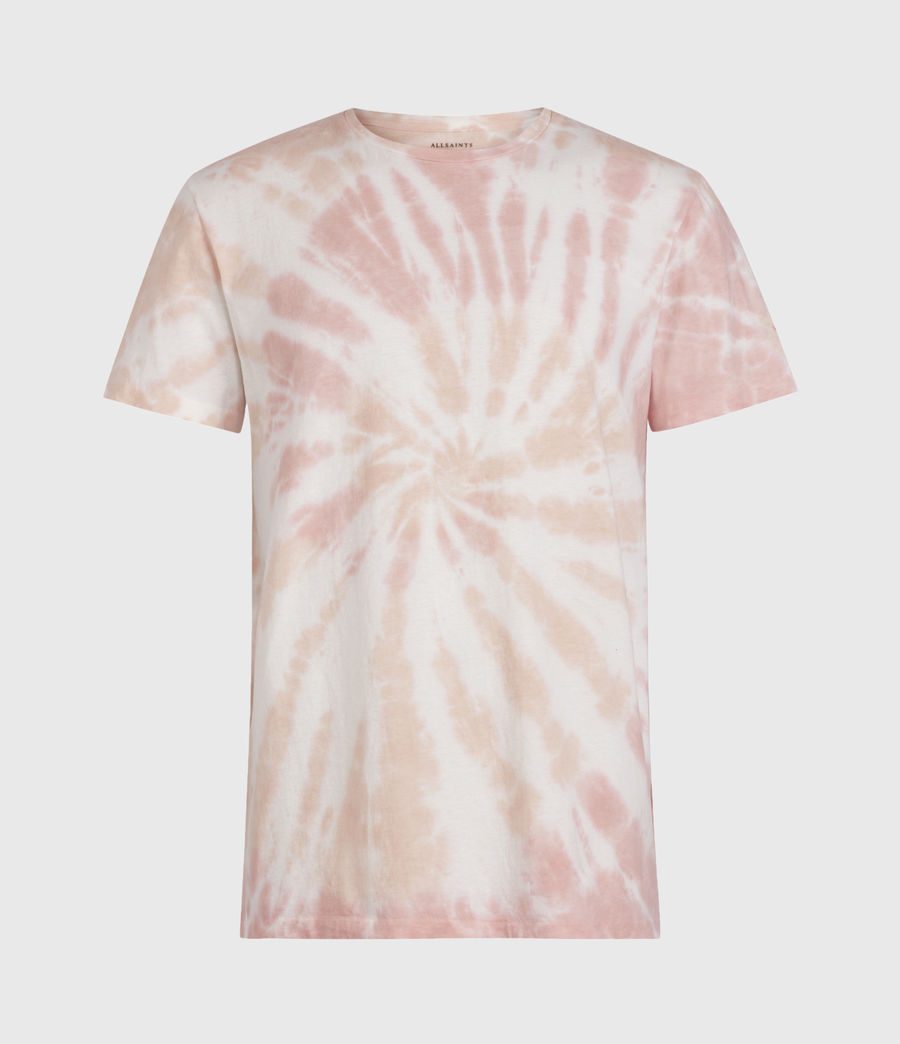 Mens Tucker Tie Dye Crew T-Shirt (light_pink) - Image 1