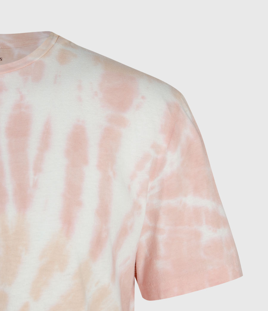 Mens Tucker Tie Dye Crew T-Shirt (light_pink) - Image 3