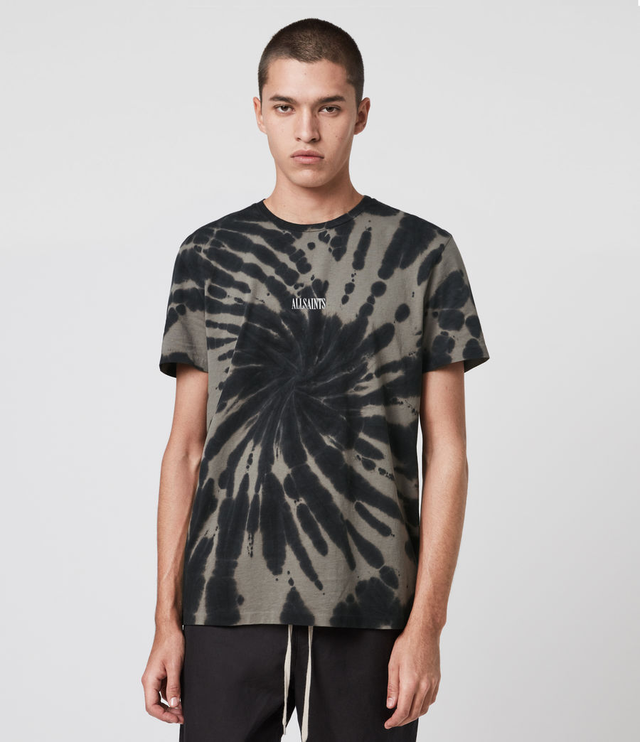 Mens Tucker Tie Dye Crew T-Shirt (black) - Image 1