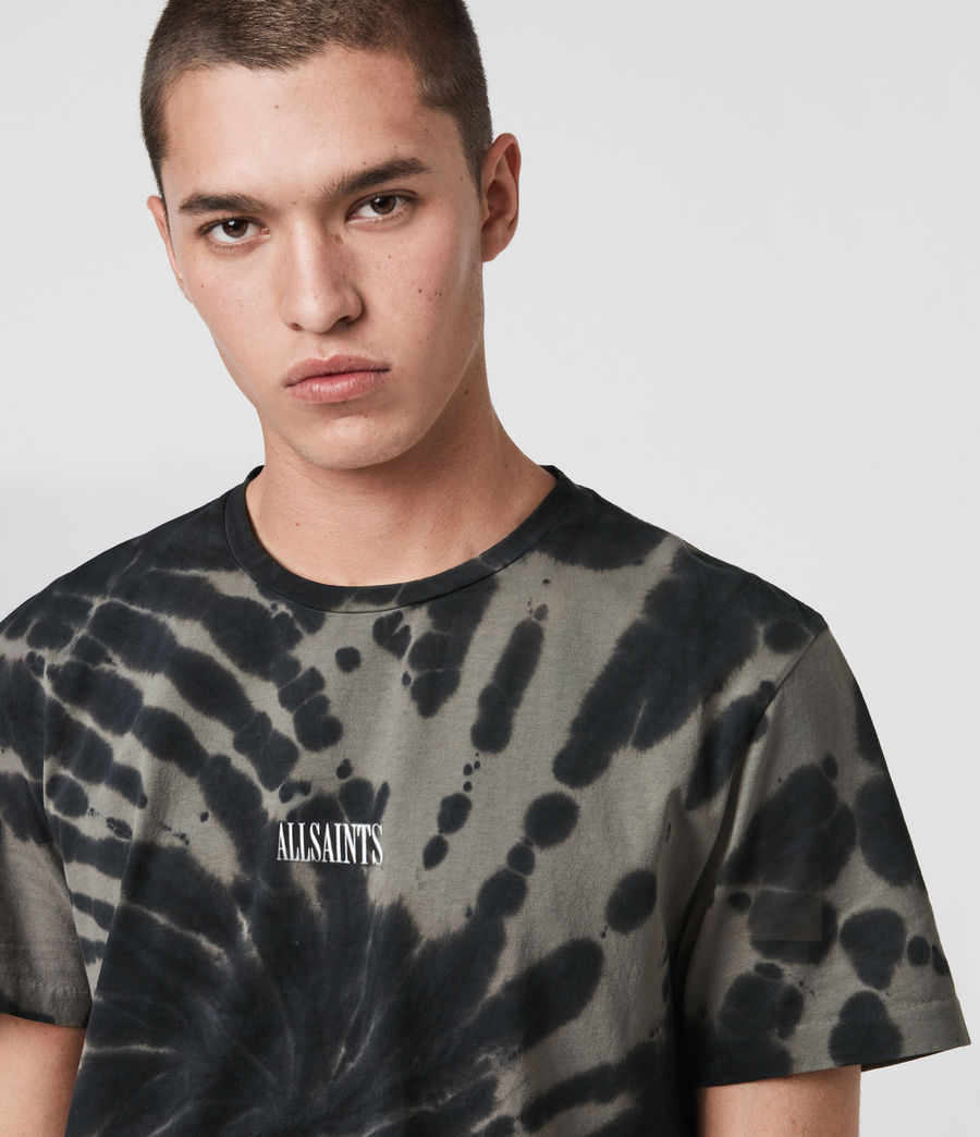 Men's Tucker Tie Dye Crew T-Shirt (black) - Image 2
