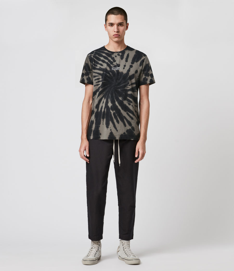 Mens Tucker Tie Dye Crew T-Shirt (black) - Image 3