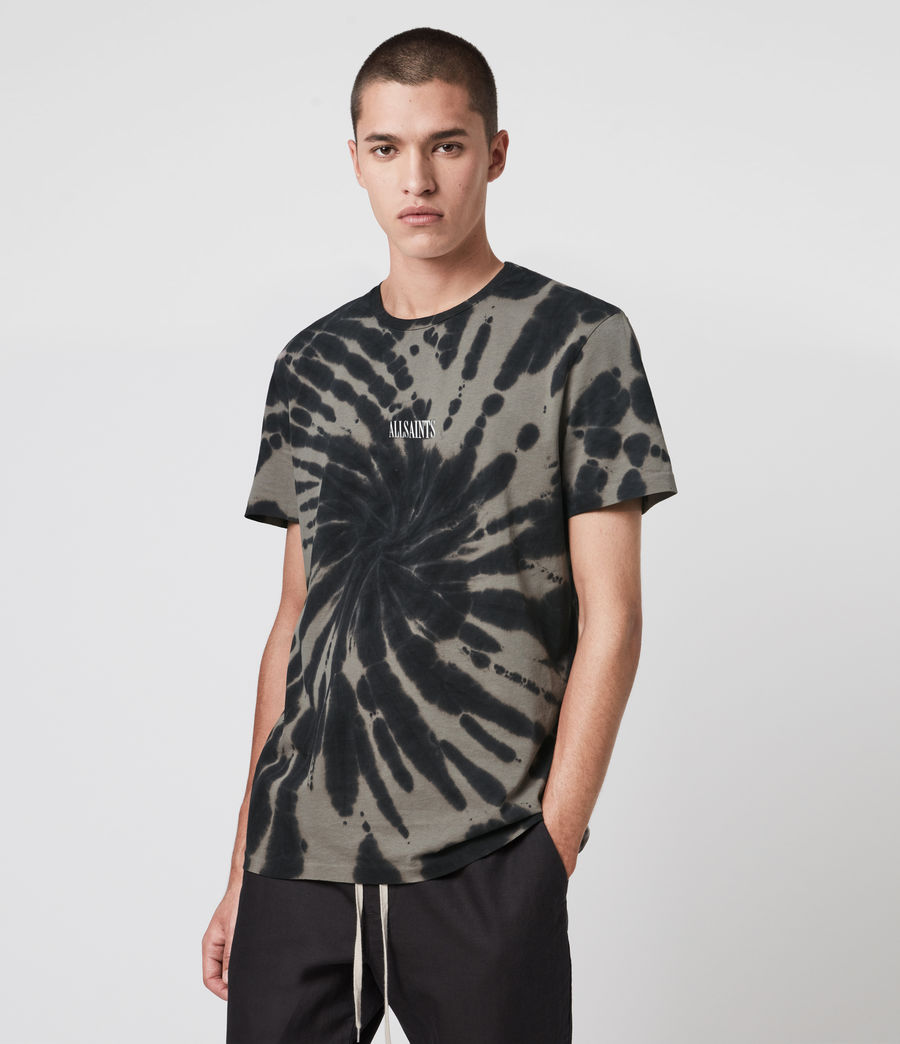 Mens Tucker Tie Dye Crew T-Shirt (black) - Image 4