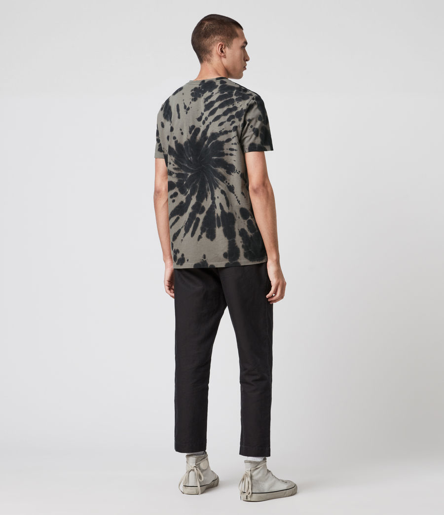 Mens Tucker Tie Dye Crew T-Shirt (black) - Image 5