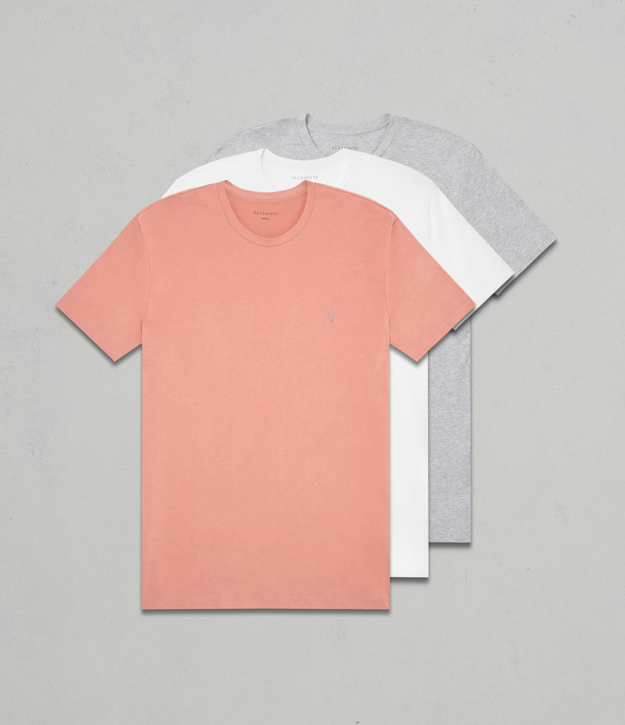 Hombres Pack de 3 camisetas Brace Tonic (red_grey_white) - Image 1
