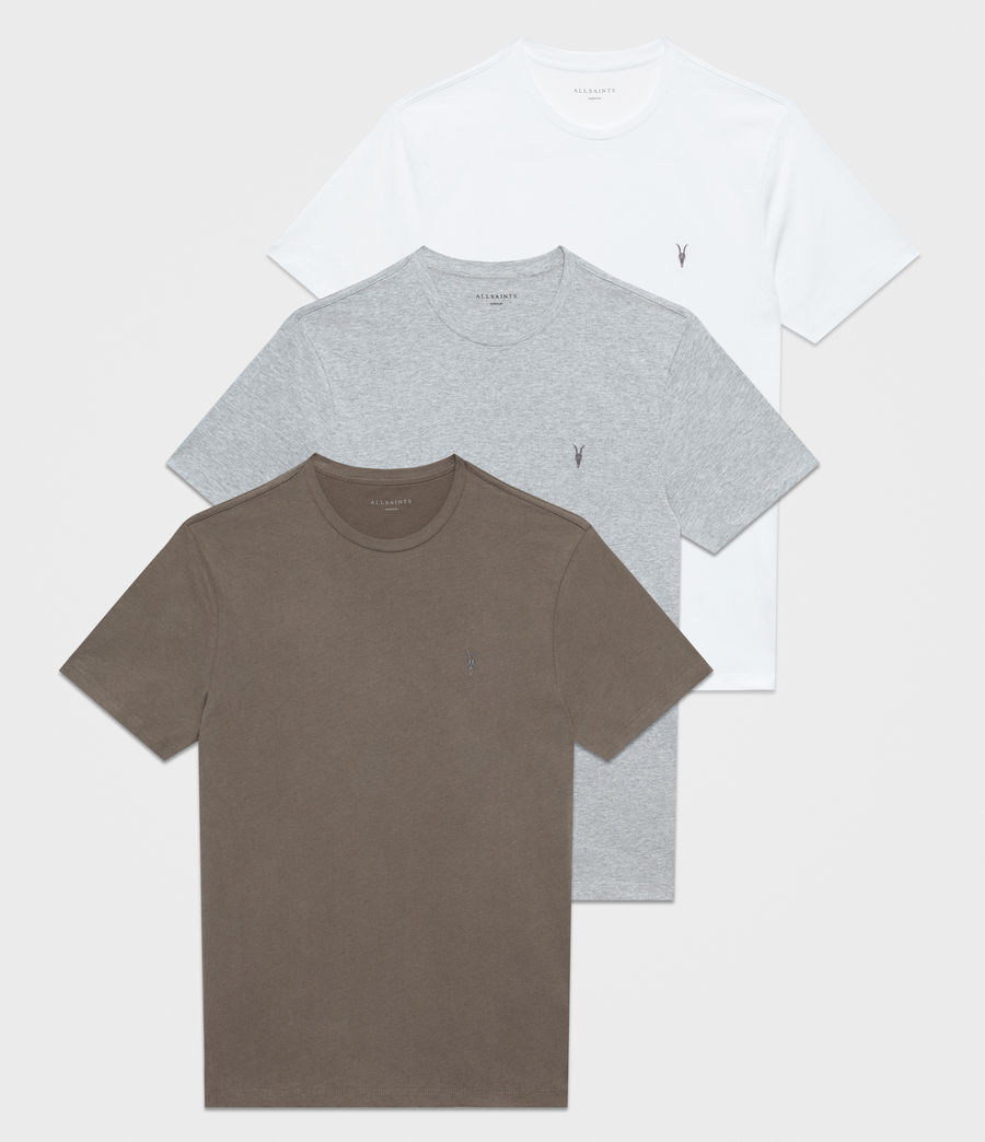 Mens Brace Tonic Crew T-Shirt 3 Pack (khaki_grey_white) - Image 1
