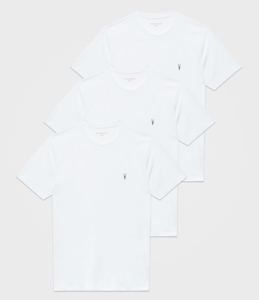 Men's Brace Tonic Crew T-Shirt 3 Pack (white_white_white) - Image 1