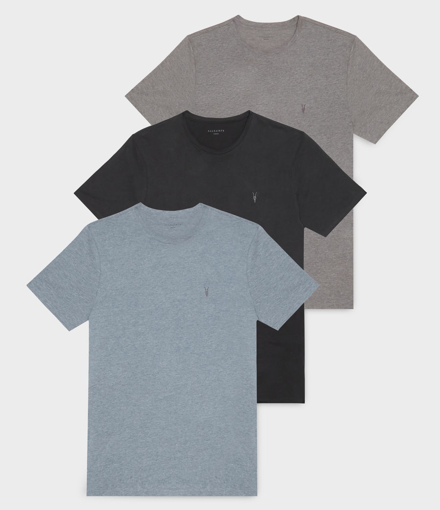 Men's Brace Tonic Crew T-Shirt 3 Pack (blue_brown_black) - Image 1