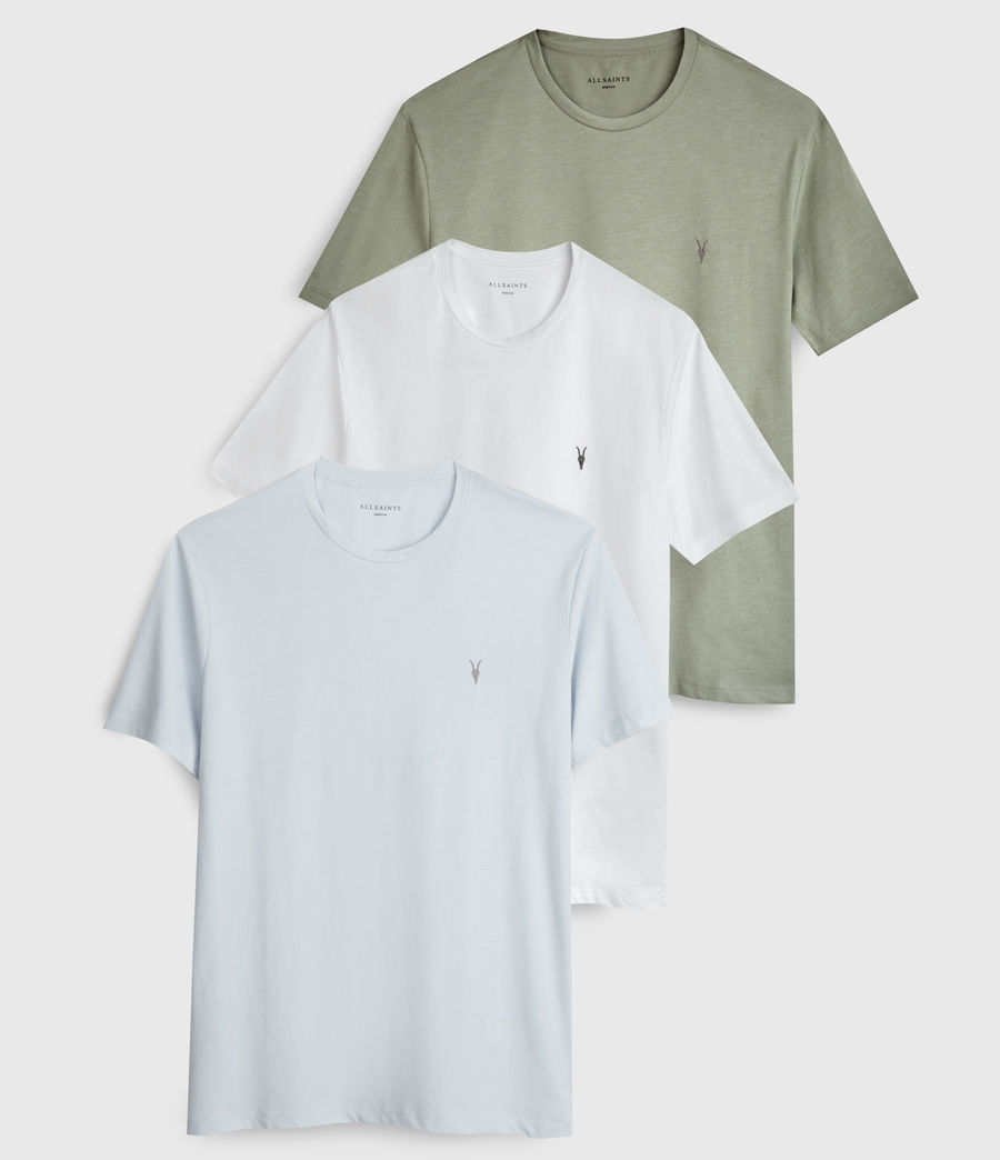 Hombre Pack de 3 Playeras Brace Tonic (m_green_blue_white) - Image 1
