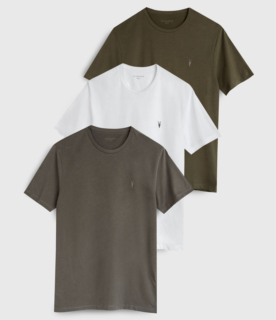 Hombres Brace Tonic 3 Pack T-Shirts (c_grey_green_white) - Image 1