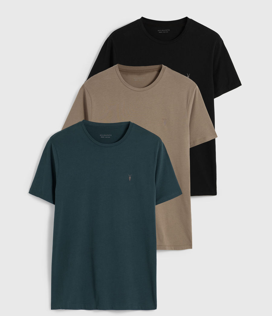 Hombres Pack de 3 Camisetas Brace Tonic (teal_pebble_black) - Image 1
