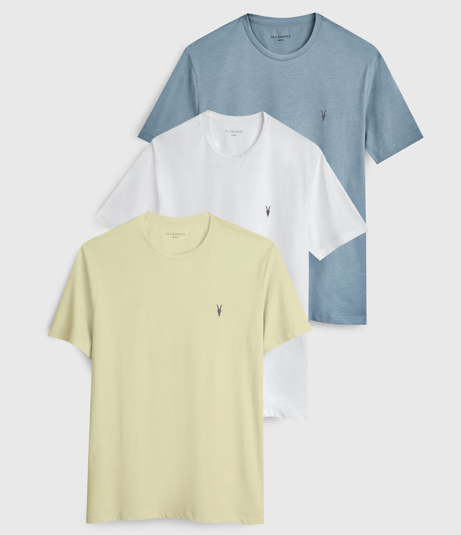 Hombres Brace Tonic 3 Pack T-Shirts (optic_blue_yellow) - Image 1