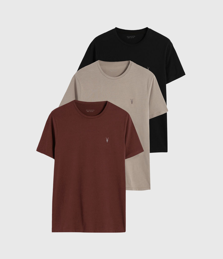 Mens Brace Tonic 3 Pack T-Shirts (black_grey_red) - Image 1
