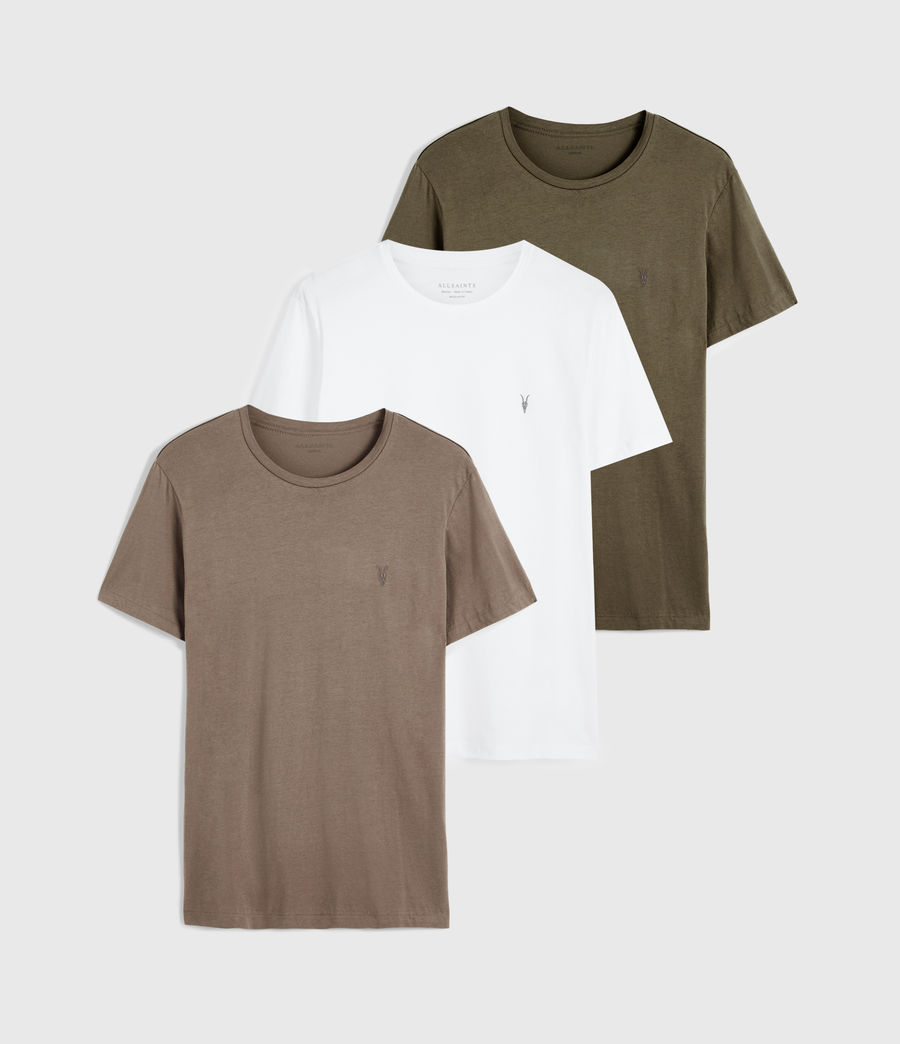 Men's Brace Tonic 3 Pack T-Shirts (optic_seaweed_bgry) - Image 1