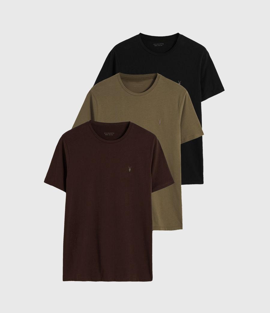 Herren Brace Tonic 3 Pack T-Shirts (oxbld_blk_wd_olive) - Image 1