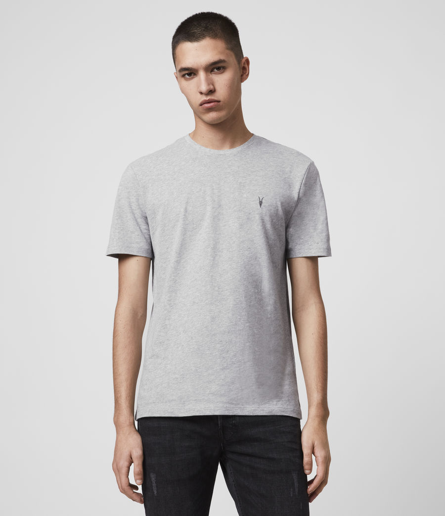 Mens Brace Tonic Short Sleeve Crew T-Shirt (grey_marl) - Image 1