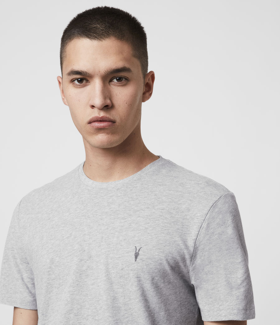 Men's Brace Tonic Crew T-Shirt (Grey Marl) - Image 2