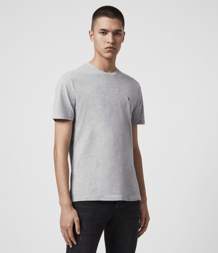 Men's Brace Tonic Crew T-Shirt (Grey Marl) - Image 4