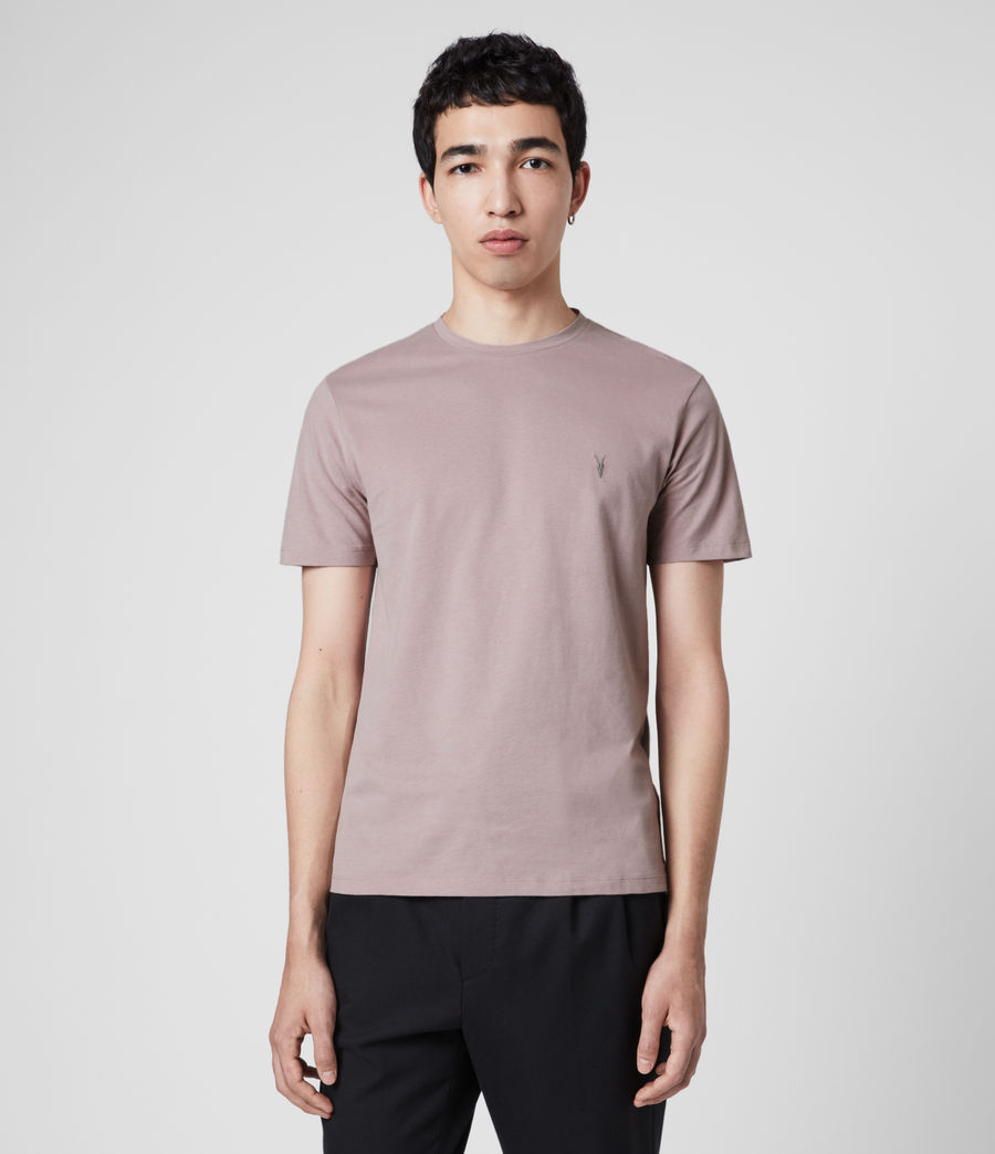 Mens Brace Tonic Crew T-Shirt (washed_lilac) - Image 1