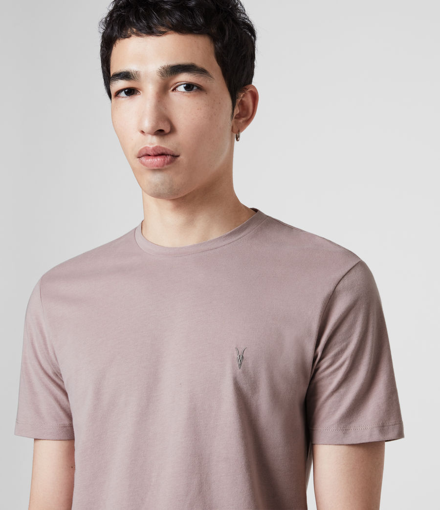 Mens Brace Tonic Crew T-Shirt (washed_lilac) - Image 2