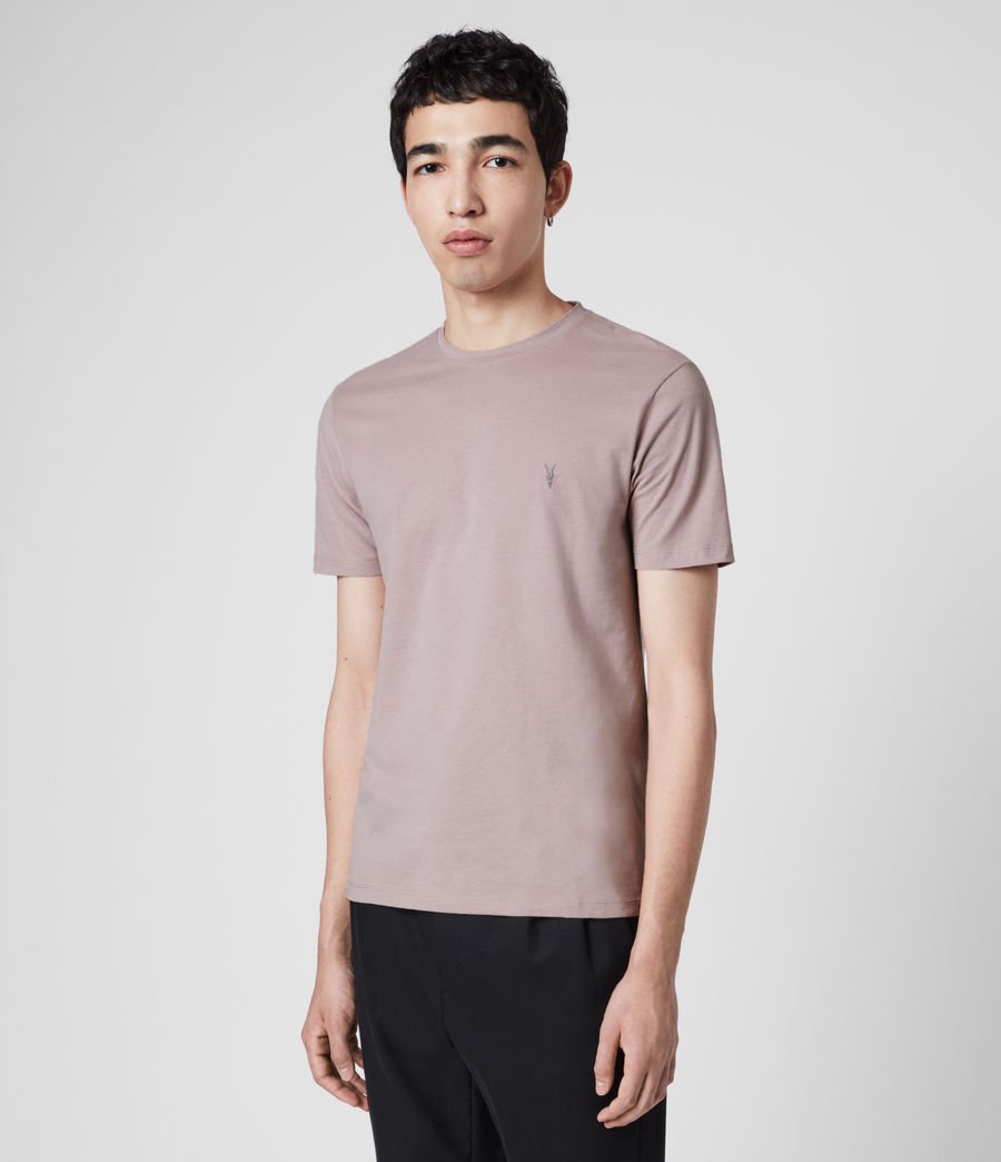 Mens Brace Tonic Crew T-Shirt (washed_lilac) - Image 4