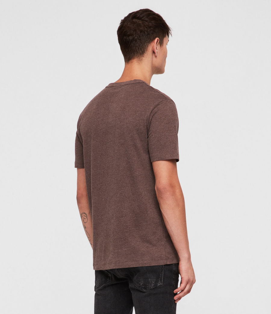 Hombres Brace Tonic Crew T-Shirt (oxblood_marl) - Image 4