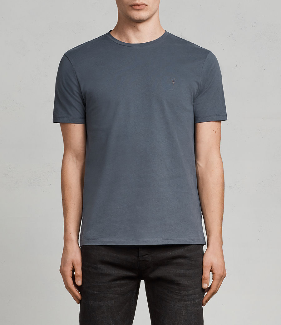 Herren Brace Tonic T-Shirt (washed_navy) - Image 1
