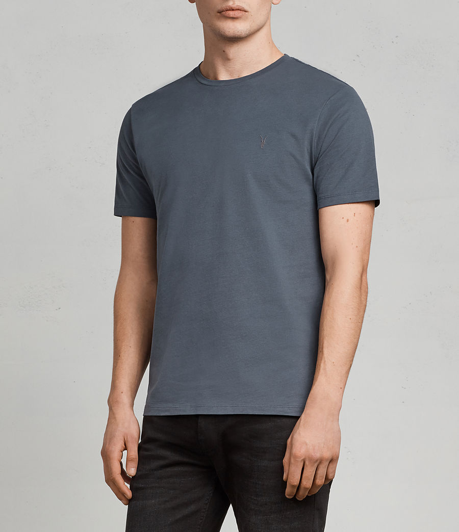 Herren Brace Tonic T-Shirt (washed_navy) - Image 3