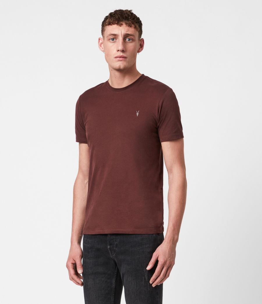 Men's Brace Tonic Crew T-Shirt (burgundy_red) - Image 1