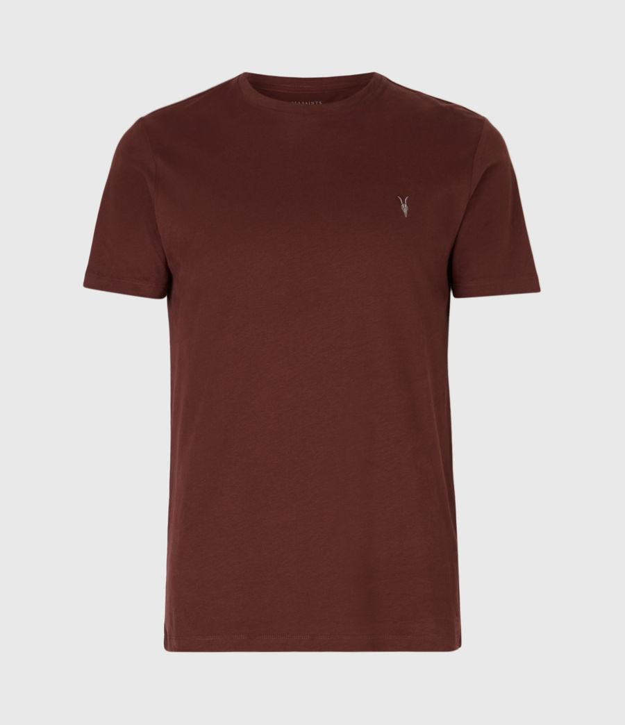 Men's Brace Tonic Crew T-Shirt (burgundy_red) - Image 2