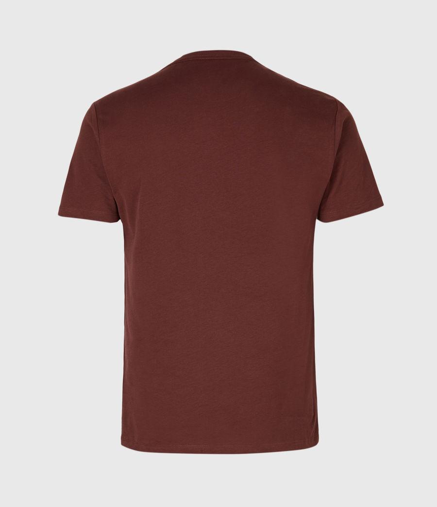 Men's Brace Tonic Crew T-Shirt (burgundy_red) - Image 3
