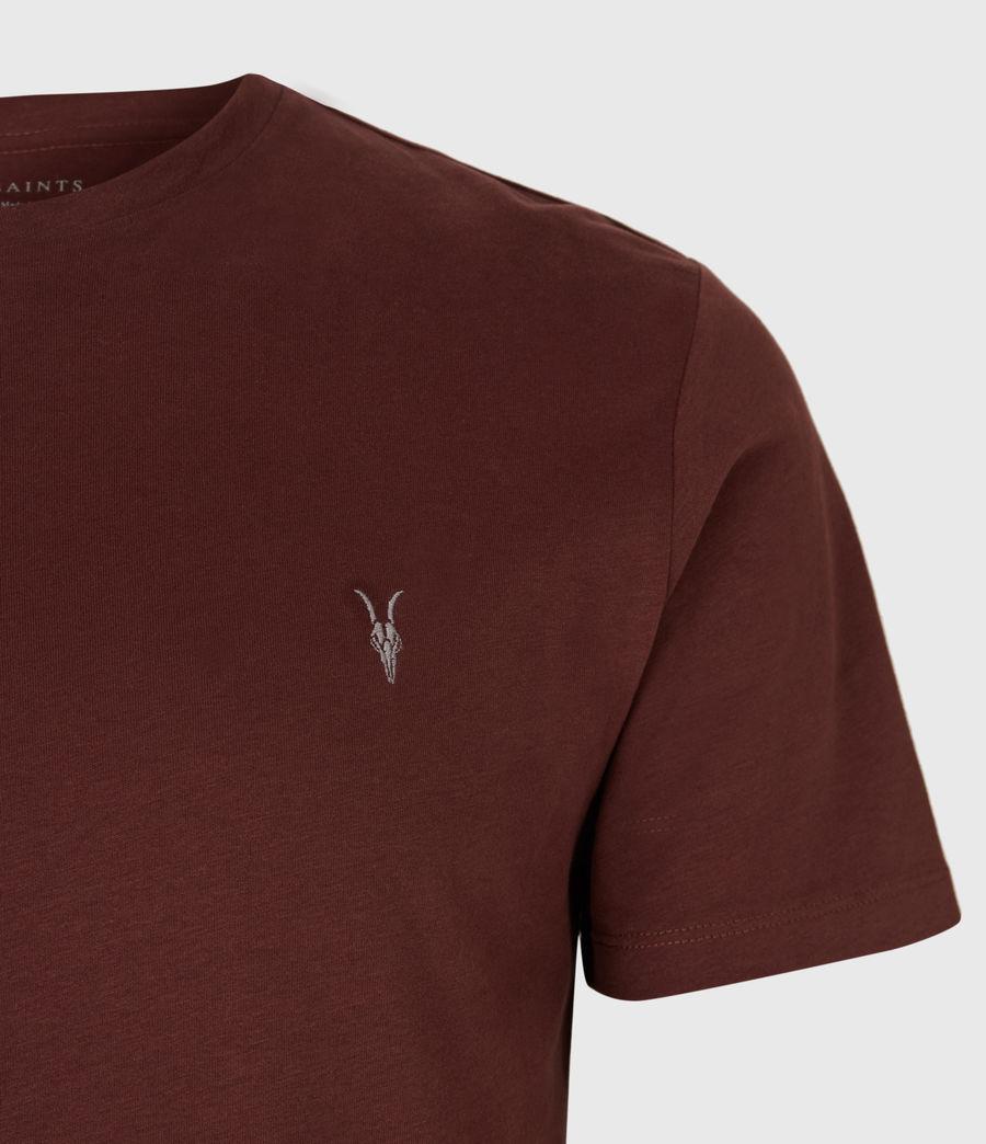 Men's Brace Tonic Crew T-Shirt (burgundy_red) - Image 4