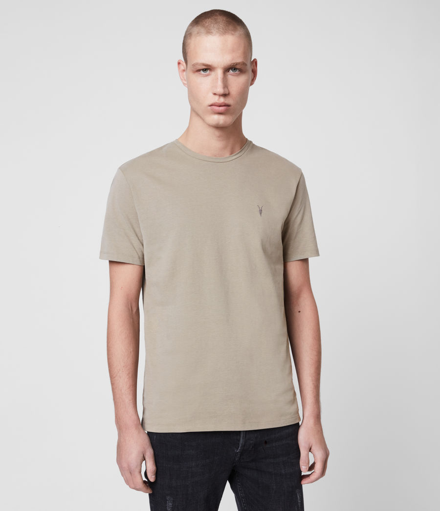 Mens Brace Tonic Crew T-Shirt (flint_grey) - Image 1