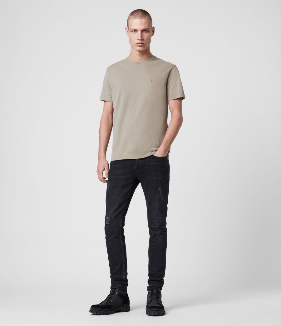 Men's Brace Tonic Crew T-Shirt (chalk_marl) - Image 3