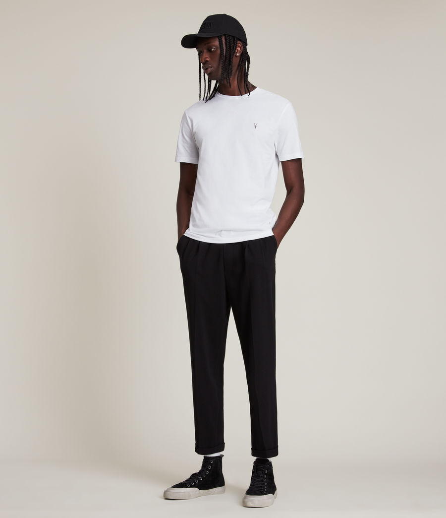 Mens Brace Tonic Short Sleeve Crew T-Shirt (optic_white) - Image 3
